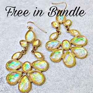 Jewelry - Sparkly AB Rhinestone Statement Earrings